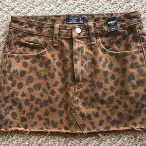Abercrombie Leopard Jean skirt